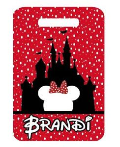 59bb89f15725 Details about DISNEY CASTLE MINNIE BAG TAG Personalized Luggage Backpacks  Tag 2 Sides printed