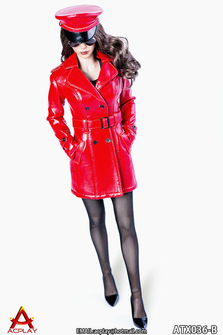 ACPLAY 1 6 The Queen Style Leather Suit Windbreaker in Red ATX036A