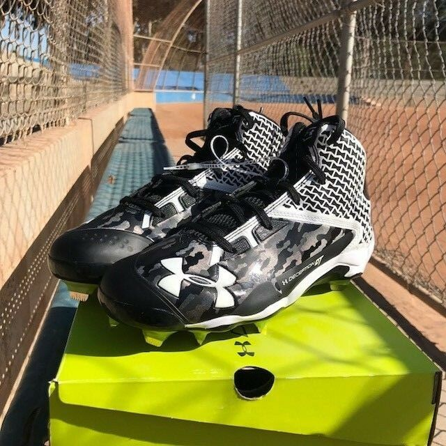 Under Armour Deception Mid DT Baseball Metal Cleat Men Men Cleat Größe 9.5 38493c