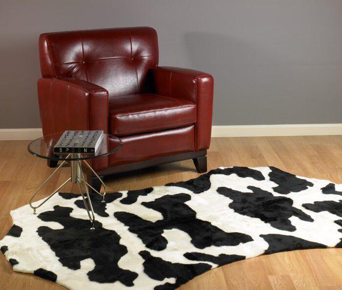 COW RUG  FAUX FUR COWHIDE COW HIDE SKIN RUG 5x7 NEW