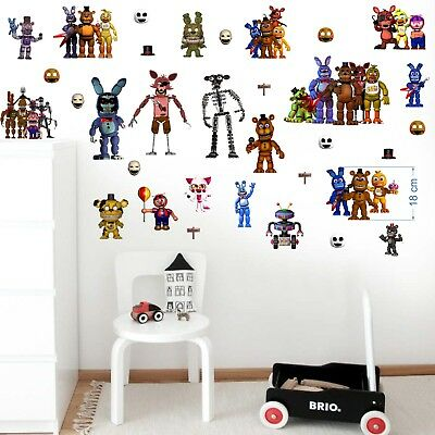 FIVE NIGHTS AT FREDDY/'S  COLOURFUL  POSTER  VINYL WALL STICKER VARIOUS SIZES