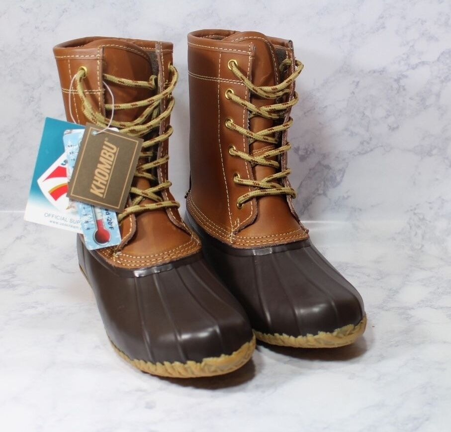 KHOMBU TAN / BROWN  THERMO-LITE -20*F LETTY DUCK BOOTS SIZE 7M New with Tags