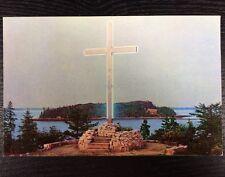 Oblate Cross Our Lady of Fatima Shrine Bar Harbor, Maine Chrome Postcard Unused
