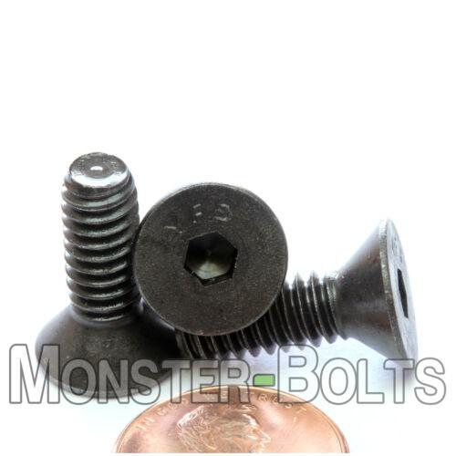 "Qty 10 1//4-28 x 3//4/"" Flat Head Socket Caps Screws SAE Alloy Steel Blk Oxide"