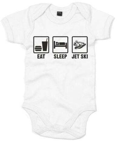 Eat Sleep Jetski Printed Baby Grow Cool Romper Cute Baby Shower Gift Sleep Suit