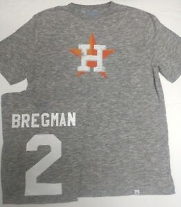 info for f3569 d166a Details about ALEX BREGMAN HOUSTON ASTROS SHIRT GREY MAJESTIC NEW PICK SIZE