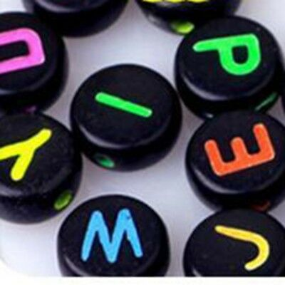 wamami 200pcs Acrylic Mixed Letter Black Disc Color Alphabet Letter Beads 4mm Available In Various Designs And Specifications For Your Selection Nice