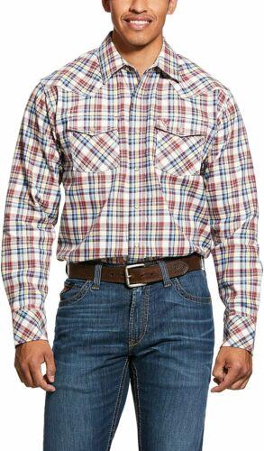ARIAT Men/'s Fr Granite Retro Fit Snap Work Shirt