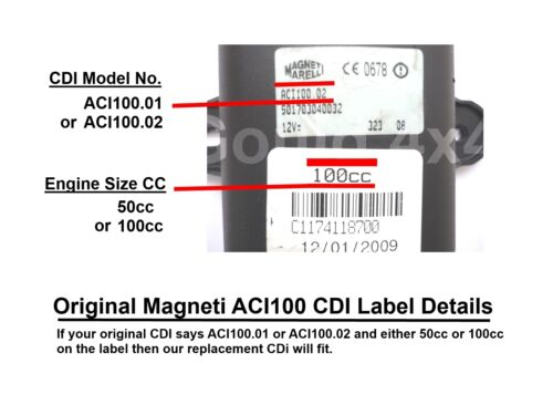 Cdi für 100cc Peugeot Speedfight 2 Aci100 Wegfahrsperre Chip Schlüssel Bypass