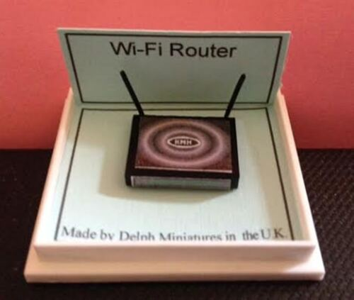 DOLLS HOUSE miniatura 1//12 scala WIFI ROUTER-non lavorativo in miniatura