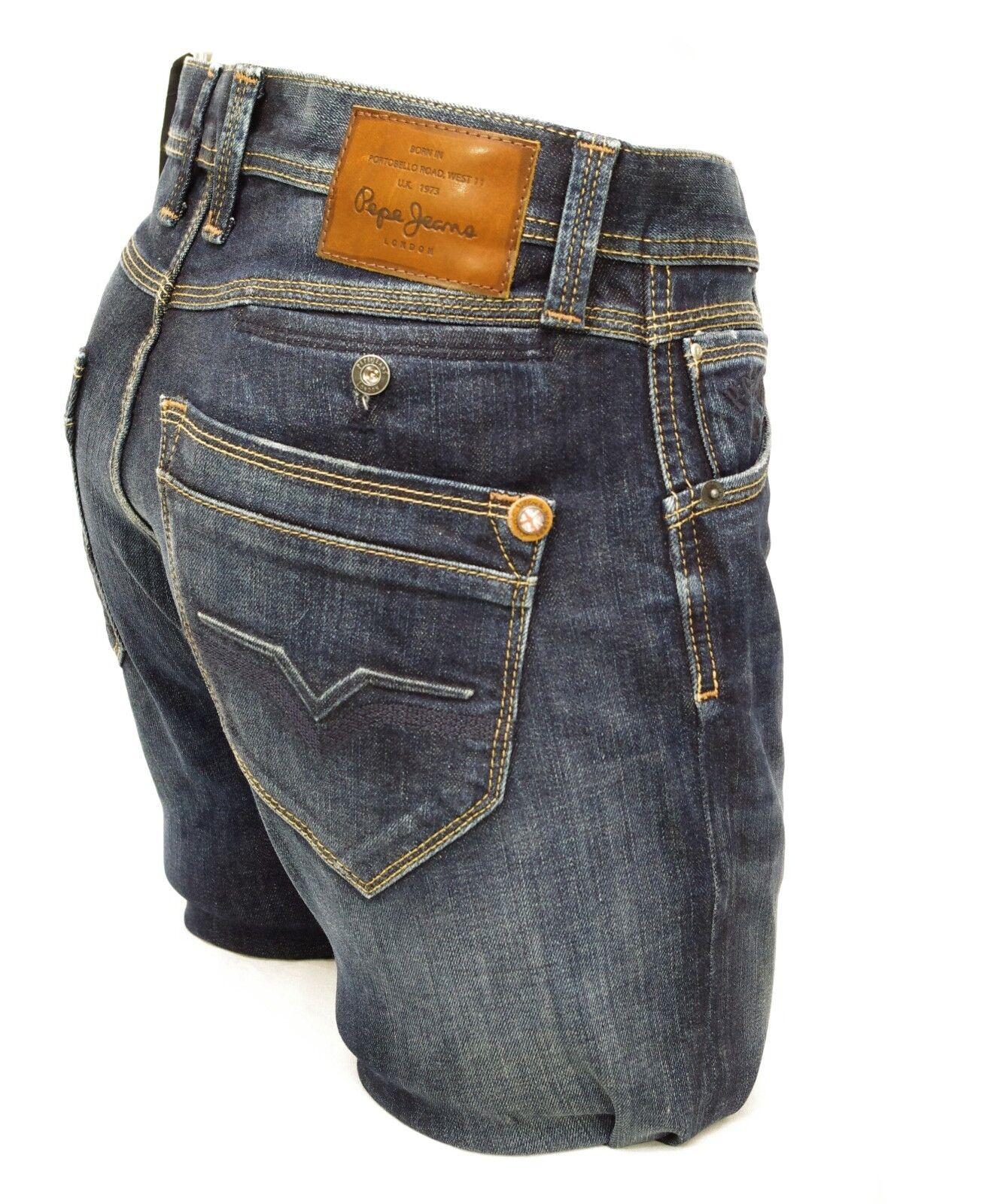 Pepe Jeans Spike Jean Slim Fit Mens Blue Pm200029z45 Low Waist Slim Leg Ebay