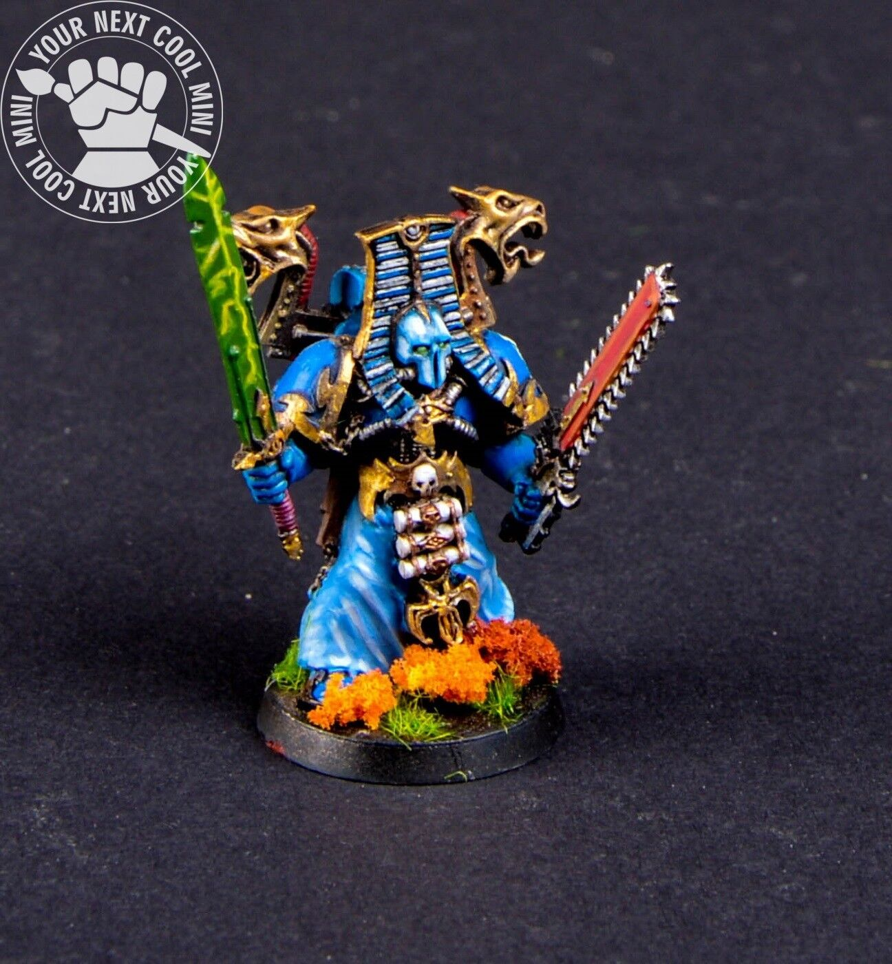 Warhammer 40K Chaos Space Marines Sorcerer with Force Sword. 1 METAL mini PP