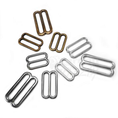 "38mm 25mm 1.5/"" Solid Brass Tri Glides 3 Bar Adjusters 1/"" 1.2/"" 30mm"