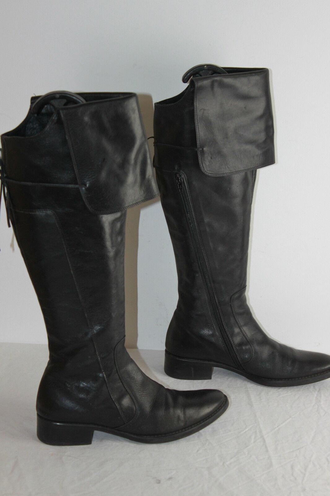 Bottes Genoux BARBARA Cuir black T 37 BE
