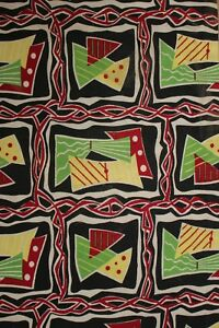 Vintage Mid Century Modern Fabric Material 1950 S French Upholstery