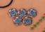 10X-Bohemian-3D-Flower-Turquoise-Conchos-For-Leather-Craft-Keychian-Wallet-Decor miniatuur 3