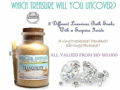 Able Tranquil Treasures Bath Salt Soak W/ Solid Sterling Silver Gemstone Jewelry Jewelry & Watches 10k Nourishing The Kidneys Relieving Rheumatism