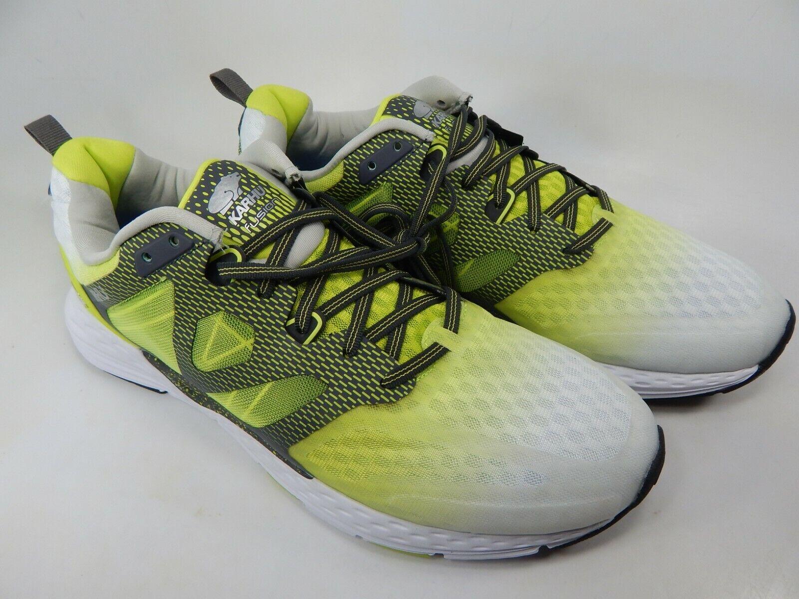 Karhu Fusion Ortix MRE Sz 11 M (D) EU 45 Men's Running shoes Lime White F100242