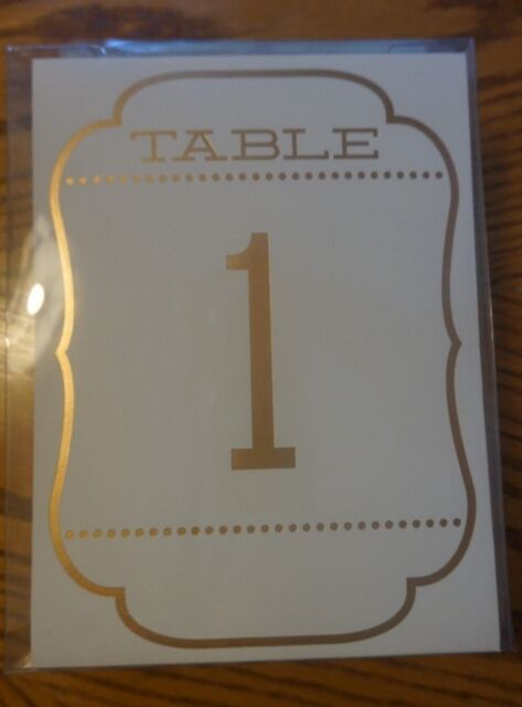 celebrate it ivory gold table number tent 1 20 shower wedding party