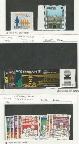 Singapore, Postage Stamp, #421, 441, 4303 Mint NH, 443448e Used, 19834
