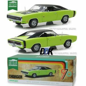 Greenlight-13529-1970-Dodge-Charger-R-T-SE-Sublime-Green-Diecast-Model-Car-1-18