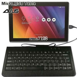 Micro-USB-cuir-filaire-Clavier-plug-and-play-pour-9-034-10-034-11-034-Asus-Tablette