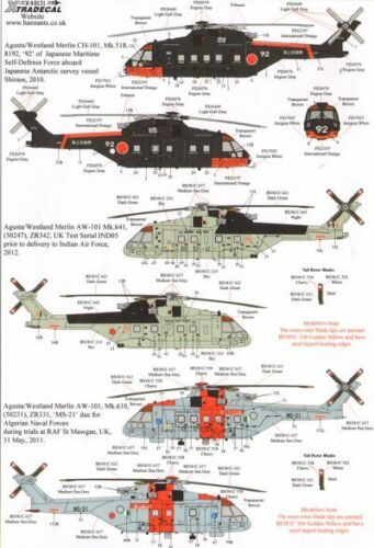Xtradecal 1//48 Agusta//Westland Merlin # 48131