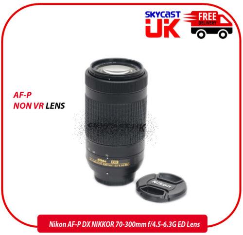 Nikon Nikkor AF-P DX 70-300mm F//4.5-6.3 Lente G ED