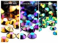 1000 2/3/4/5mm Flatback Resin Jelly Ab Rhinestones Or 200 6mm Ss6/12/16/20/30