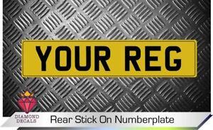 Rear-Stick-On-Number-Plate-Decal-Vinyl-Motorsport-Trailer-Caravan-Trailer-CUSTOM