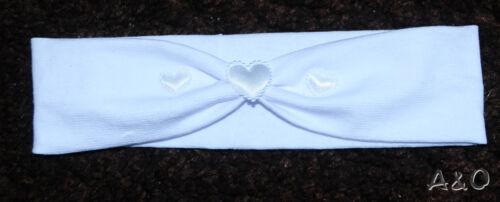 STIRNBAND Baby Kinder Haarband ab 4Mon Kopfband Ohrenschutz Weiß Grau Rosa Taufe