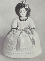 Vintage Knitting Pattern To Make 8 Inch Doll Clothes Knitted Dress And Panties