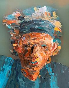 Abstract Portrait Keith Richards Rolling Stones Music Wall Art Original Painting
