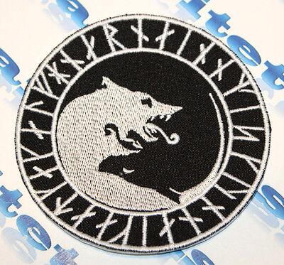 Viking Úlfhédnar No Mercy Only Violence Wolf Patch Glow Dark 3D-PVC RUBBER