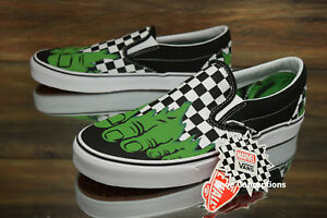 ba143ad8cd11bd Vans Classic Slip-On (Marvel) Hulk Checkerboard Skate Shoes Men s ...