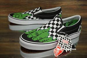ba143ad8cd11bd Vans Classic Slip-On (Marvel) Hulk Checkerboard Skate Shoes Men s ...