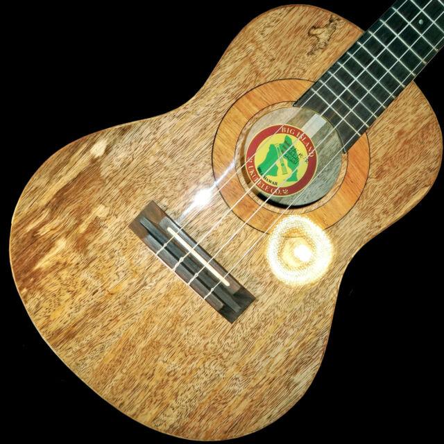 Big Island Ukulele 1-BI-MO-TR Tenor All-Solid Hawaiian Mango & H/S Case, glossy