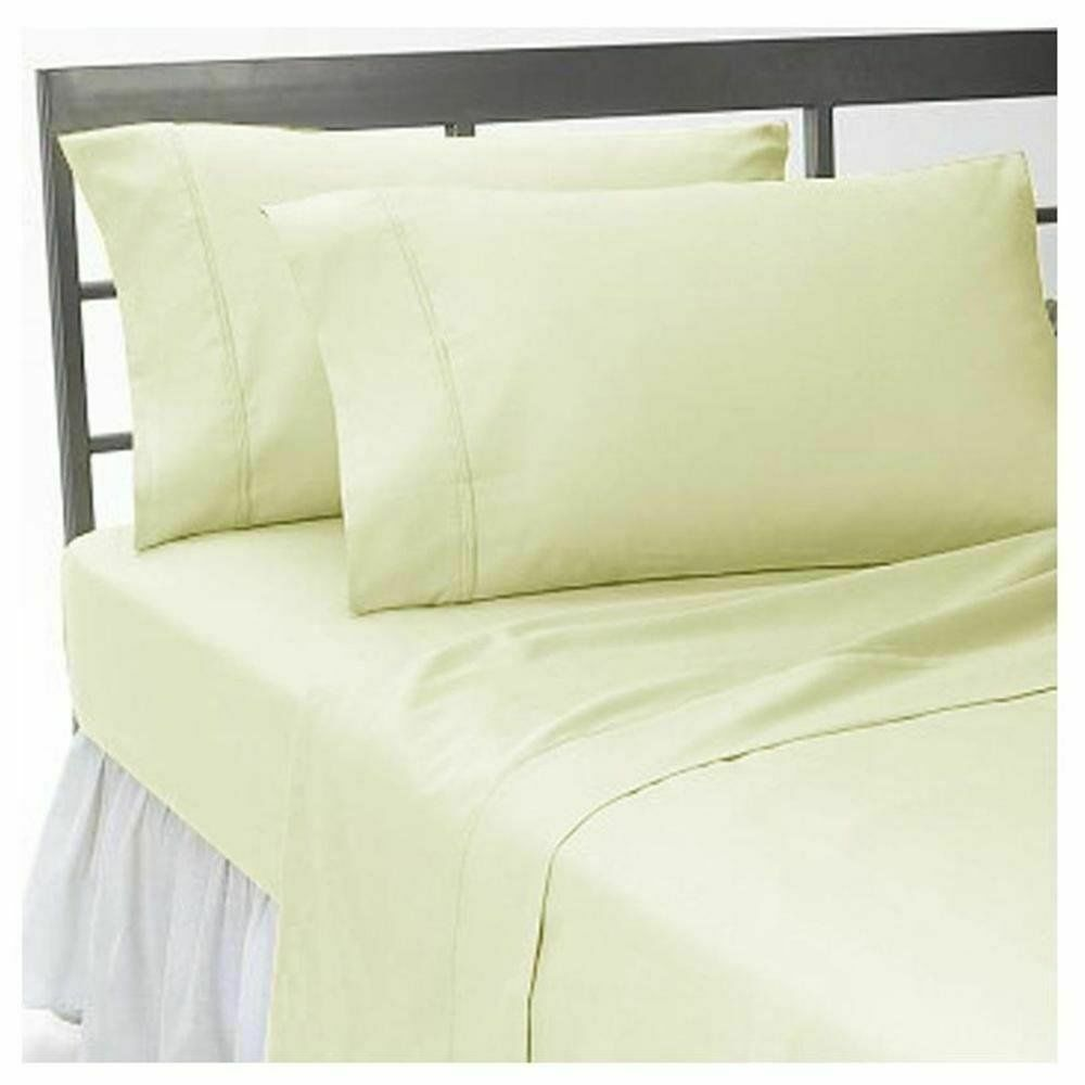 BEST BEDDINGCOLLECTION 100% Egyptian Cotton 600 TC USA Sizes IVORY SOLID