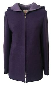 Merlet-Veste-Femme-Tissu-Double-Violet-Lilas-100-Laine-Made-IN-Italy-IT44