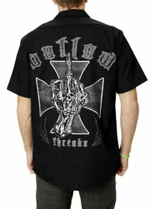 Outlaw Threadz Logo Motorcycle Tees Short Sleeve Mens T-Shirts