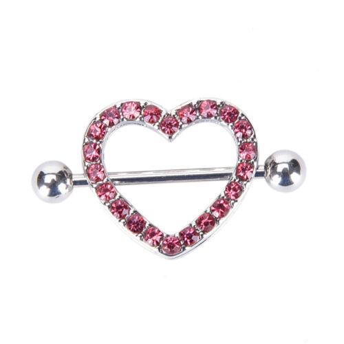 Love Hearts Nipple Bar Ring Coeur Anneau Mamelon Anneau Barbell Body Piercing Jewelry