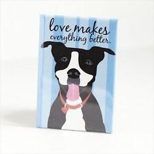 Pit Bull Love Blue Heavy Duty Art Magnet - Free Shipping ASAP - Pitbull Dog