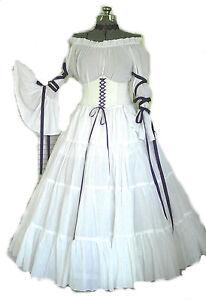 renaissance dress wedding gown corset chemise pirate
