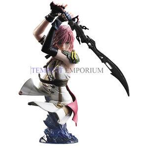 Buste officiel d'arts statiques Final Fantasy Lightning tout neuf Ff13