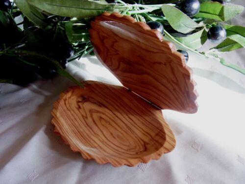 Olivenholz coquillage Deckeldose pliante coquillage bois travail manuel maritime