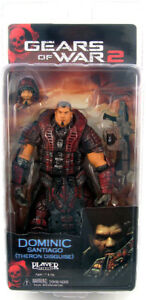 Bien Dominic Santiago Theron Disguise Gears Of War 2 Player Select Figurine Neca-afficher Le Titre D'origine Finement Traité