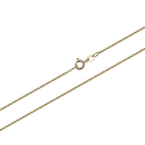 50cm cadena de anclaje 585 dorado masivamente anclaje collar cadena alrededor de 0.8mm 1,00gr 9434