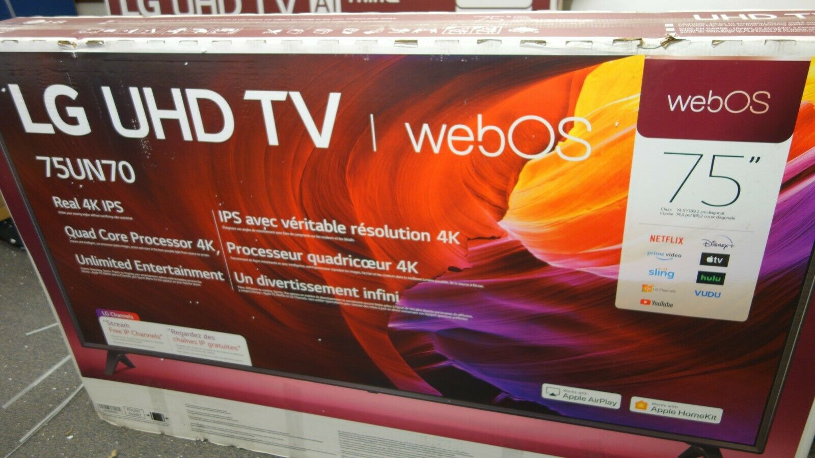 LG - 75 Class UN7070 Series LED 4K UHD Smart webOS TV(AR280). Available Now for 699.99