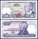 TURQUIA 1000 LIRAS AÑO 1970 Pick # 196 SC UNC