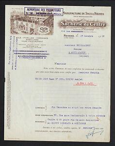 NEVERS-58-USINE-de-SACS-amp-BACHES-034-A-LERICHE-SACHERIE-DU-CENTRE-Succ-034-1938